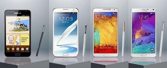 [Mobile] Note系列快速回顧:Galaxy Note一代到四代功能特色快速瀏覽,哪一代是你的最愛?