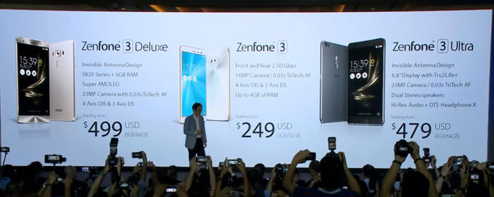 [Mobile] 高規格、高質感、高CP值!ASUS發表全新Zenfone 3系列,三機齊發涵蓋各階層市場!