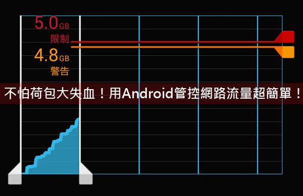 [Android] 行動網路不怕玩過頭!Andorid內建數據使用量管理功能讓你荷包不失血!